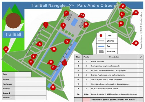 TrailBall Navigate - Parc André Citroen Paris 15