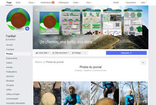 TrailBall sur Facebook
